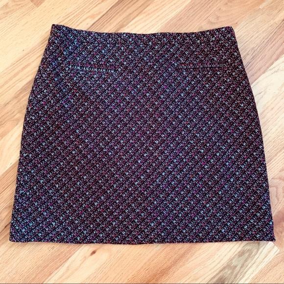 LOFT Dresses & Skirts - LOFT A Line Skirt Size 8 Eggplant, Pink, Gray EUC!